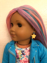 Load image into Gallery viewer, Yellow Star Earring Dangles for 18 inch American Girl Dolls
