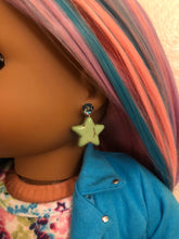 Load image into Gallery viewer, Green Star Earring Dangles for 18 inch American Girl Dolls