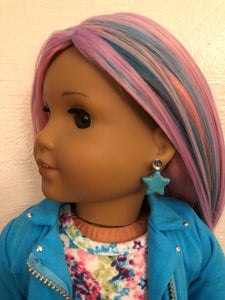 Blue Star Earring Dangles for 18 inch American Girl Dolls