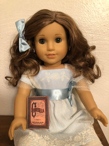 Cinderella doll sized miniature school book for American Girl Dolls 1:3 Scale