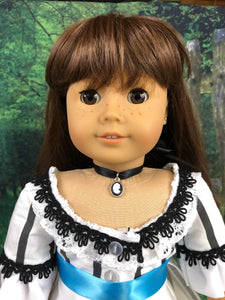 Black Cameo Choker Necklace for 18inch American Girl Dolls
