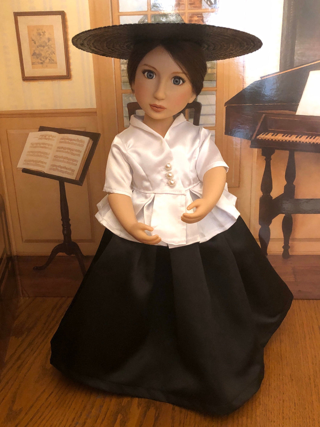 Outlander Claire's 1740's Bar Suit for 16 inch A Girl For All Time Dolls Ready To Ship
