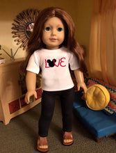 Load image into Gallery viewer, Mouse Ears LOVE Doll Tshirt for American Girl 18 inch Dolls