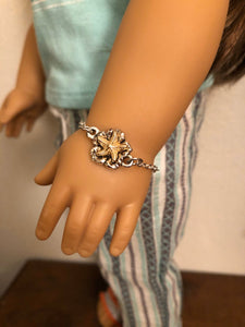 Silver & Gold Starfish Bracelet for American Girl Joss 18 inch doll jewelry