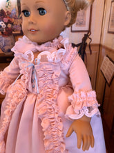 Load image into Gallery viewer, Marie Antionette Pink Colonial Gown for American Girl Dolls