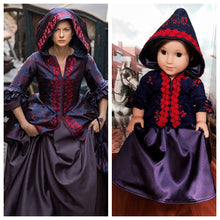 Load image into Gallery viewer, Outlander Inspired Claire Fraser Brunswick Jacket & Skirt for American Girl Dolls