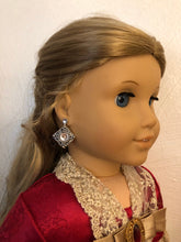 Load image into Gallery viewer, Silver & Diamond Earring Dangles for 18 inch American Girl Dolls