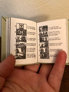 The New England Primer doll sized miniature book for American Girl Dolls 1:3 Scale