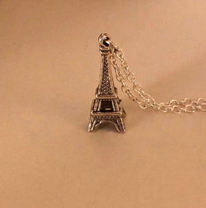 Eiffel Tower Silver Charm Necklace for American Girl Doll Jewelry Grace