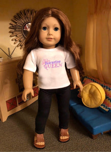 Quarantine Queen Doll Tshirt for American Girl Dolls