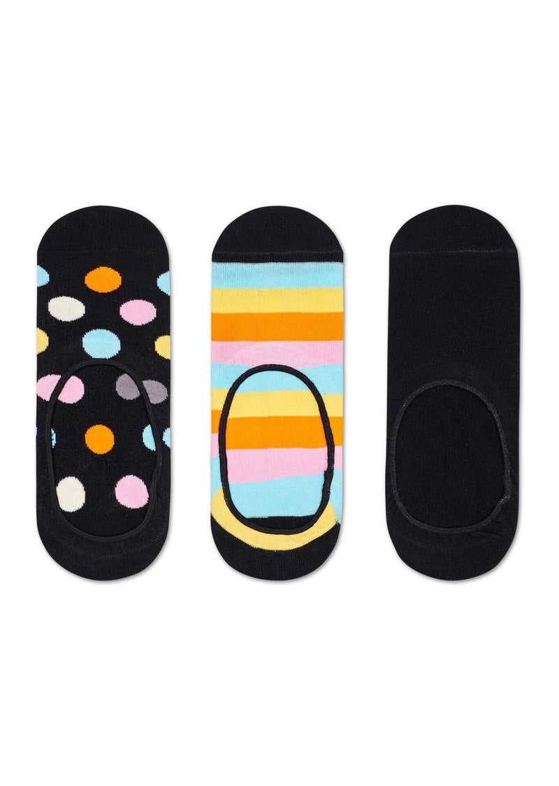 Happy Socks 3-Pack Big Dot Liner Sock