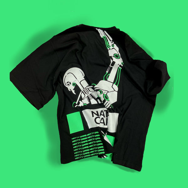 "Black Green ""Who Controls You?"" Tee"