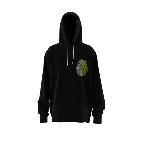 Black Green Spine or Tech? Hoodie