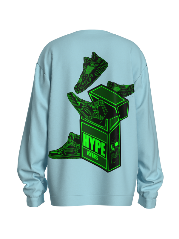Powder Blue Green Hype-Kills Sweatshirt