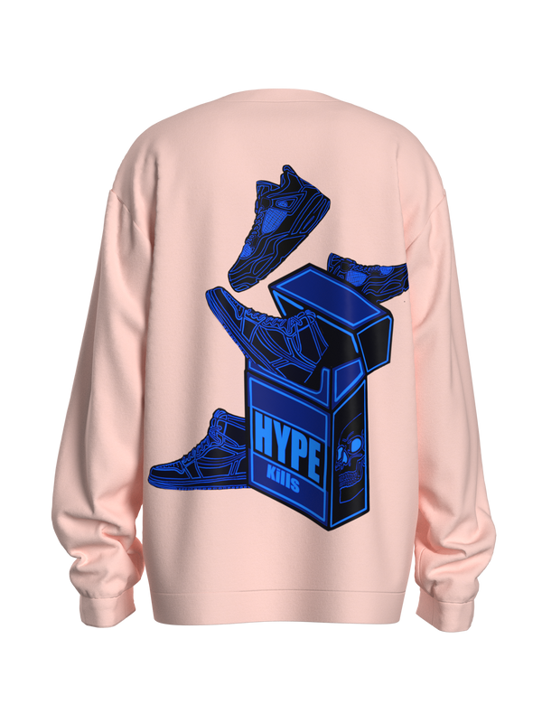 Pink Blue Hype-Kills Sweatshirt