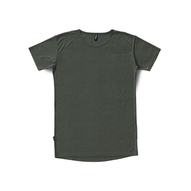 Dusty Verde Breezy Tee overlaid white background
