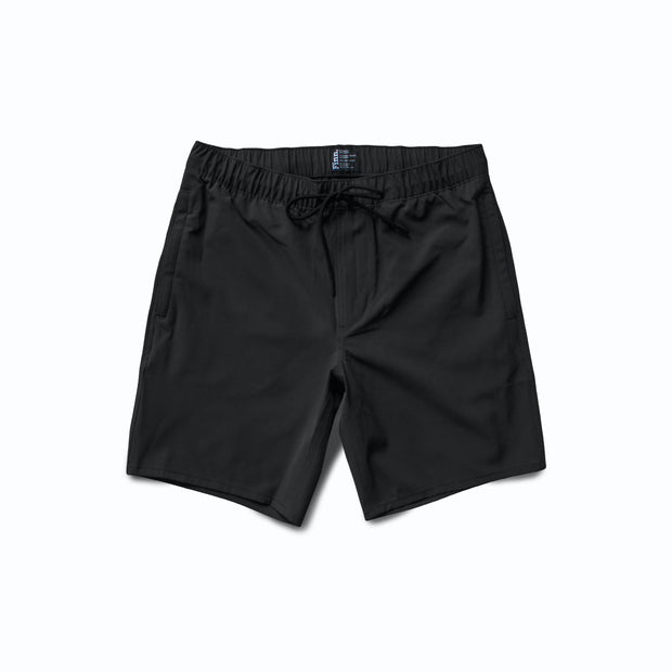 Front view of Black Always Ready Shorts overlaid white background