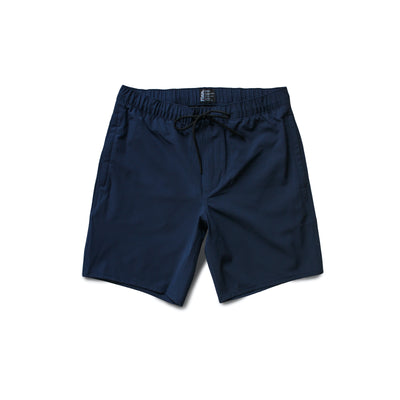 Front view of Navy Blue Always Ready Shorts overlaid white background