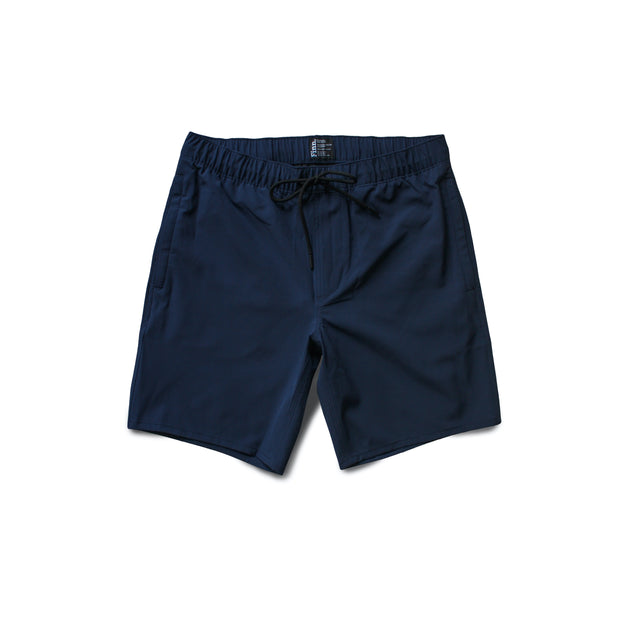 Navy Blue Always Ready Shorts over white background