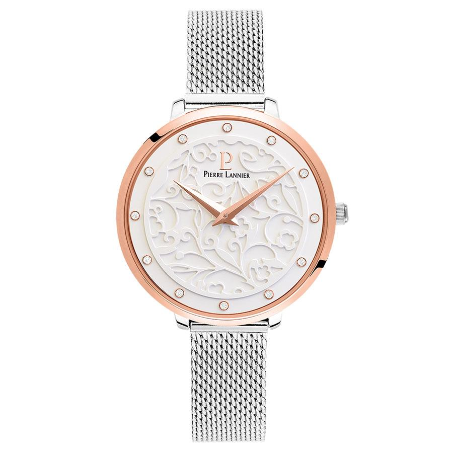 Pierre Lannier Rose Gold White/Silver Mesh