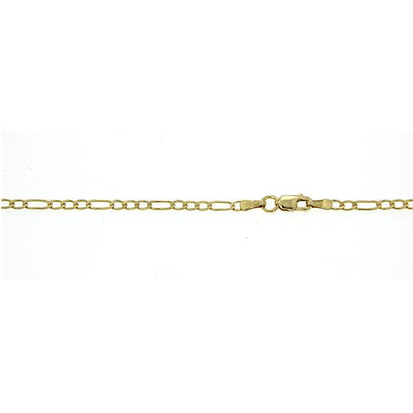2.76gm 9ct figaro 1:3 050 gauge 40cm