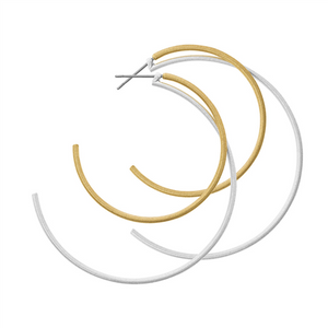 DANSK Tara Double Hoop Gold Mix