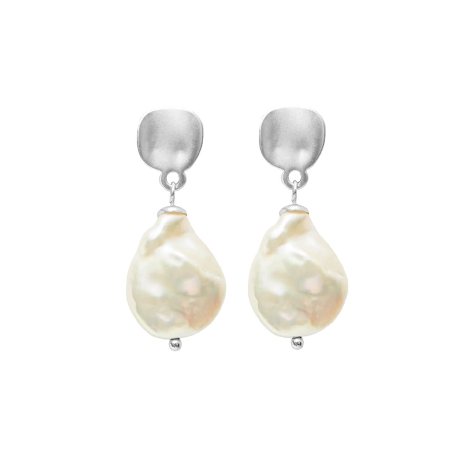 DANSK Audrey Pearl Earrings Silver