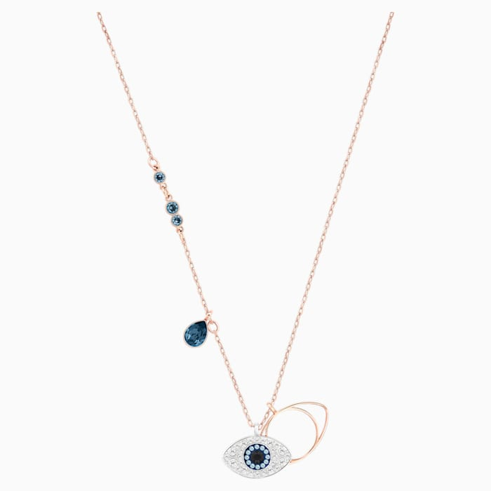 SWAROVSKI Symbolic Evil Eye Pendant, Blue, Mixed Metal Finish