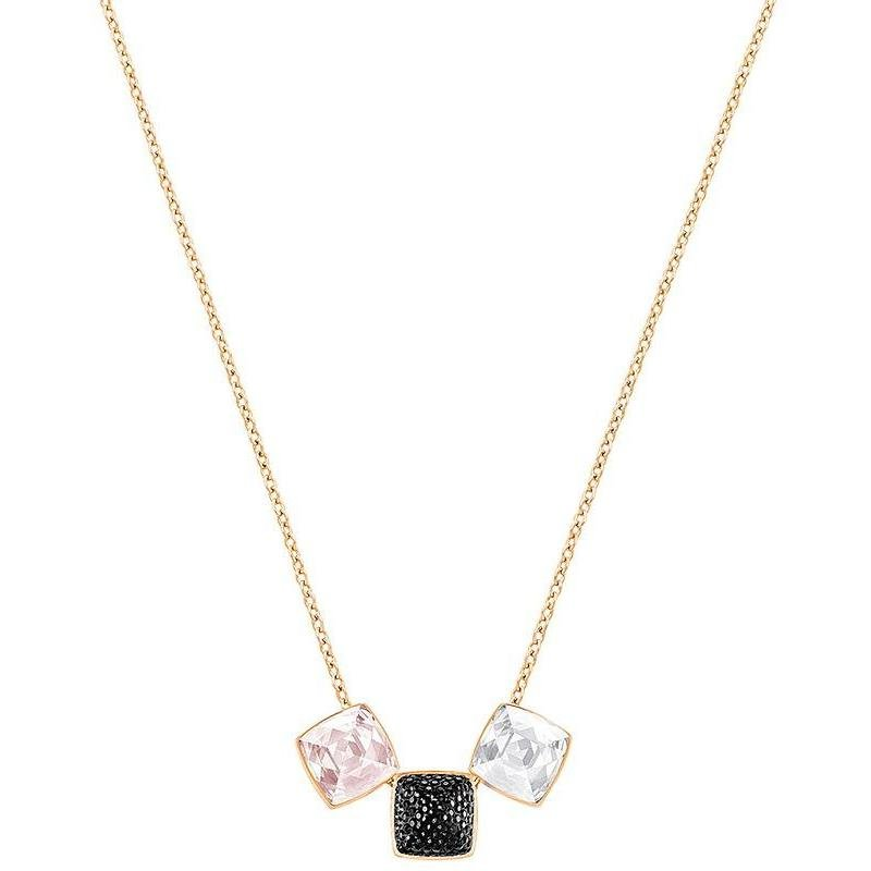 SWAROVSKI Glance Necklace, Multi-coloured, Rose-gold tone plated
