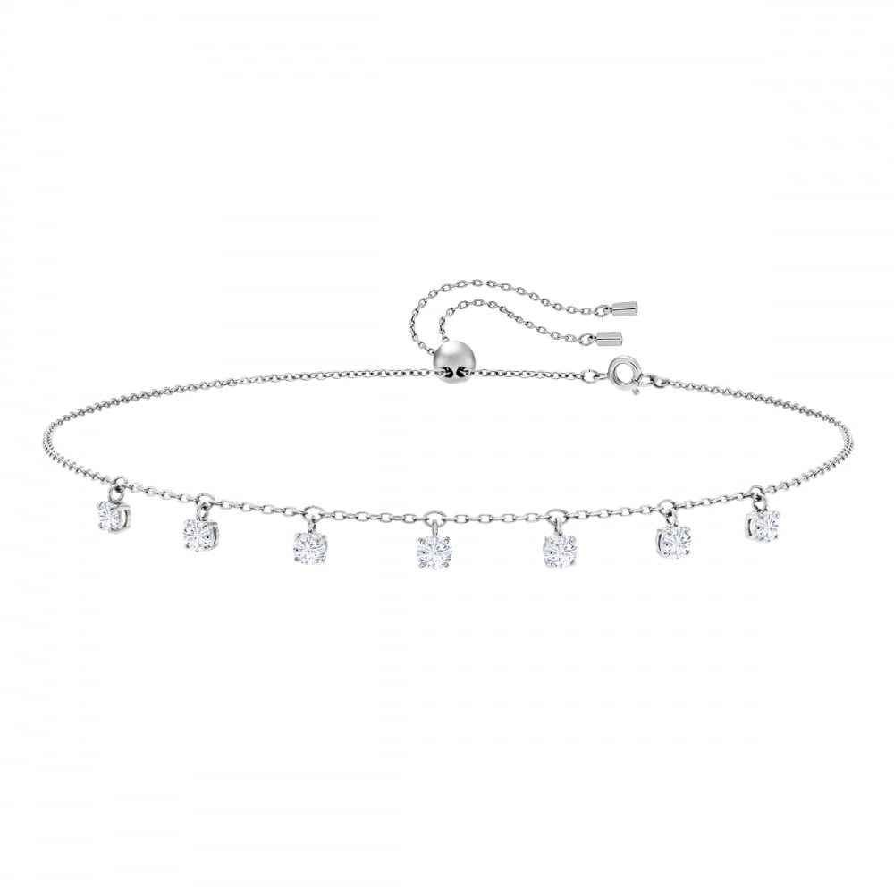 SWAROVSKI Attract Choker, White, Rhodium plated