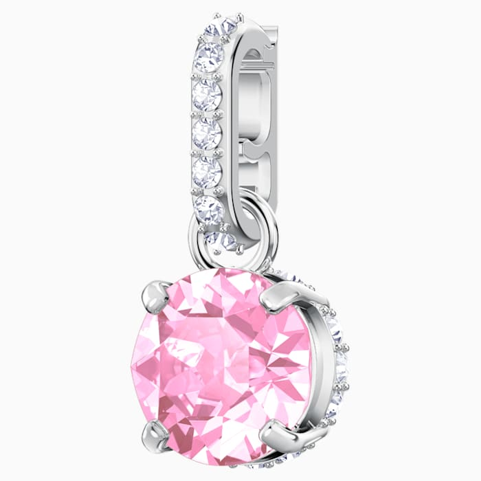 SWAROVSKI Remix Collection Charm, October, Pink, Rhodium plated