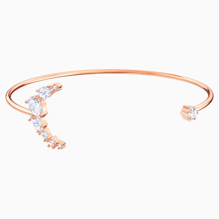 SWAROVSKI Penelope Cruz Moonsun Cuff, White, Rose-gold tone plated