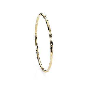 9 Carat Yellow Gold bonded silver bangle