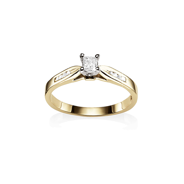 9ct Gold 0.22ct Diamond Engagement Ring