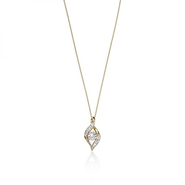 9ct Gold Diamond-set Pendant