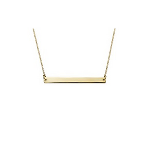 9ct Gold Polished Bar Necklet on 45cm Chain