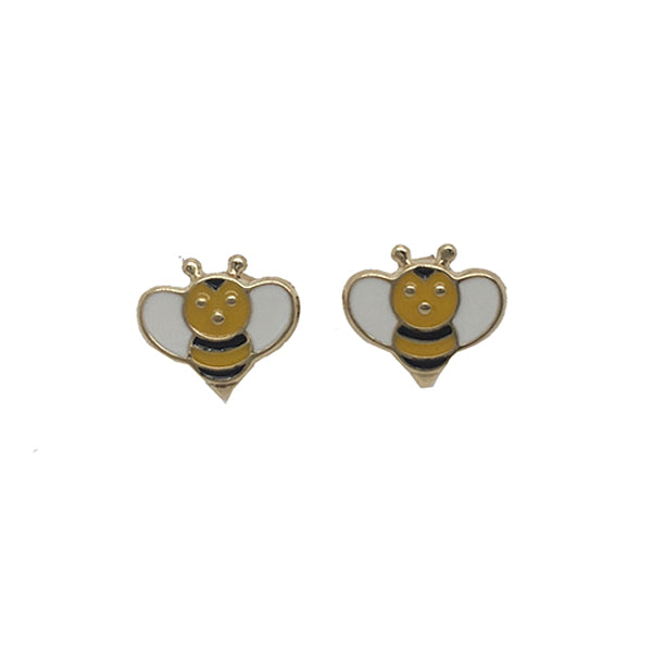 9ct enamel bee stud earrings