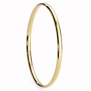 9 Carat Gold Bonded Silver 4mm Bangle