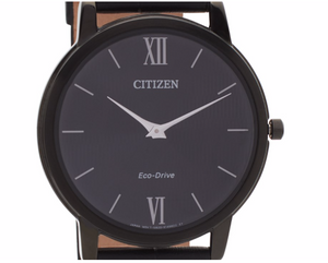 CITIZEN Eco-Drive Black Leather Strap Watch