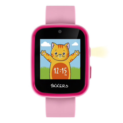 TIKKERS Interactive Pink Smart Watch for Kids