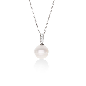 Arafura Cubic Zirconia South Sea Cultured Pearl Pendant