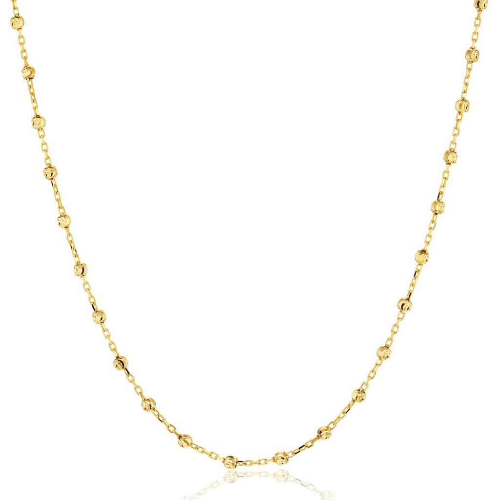 9ct yellow gold ball necklet