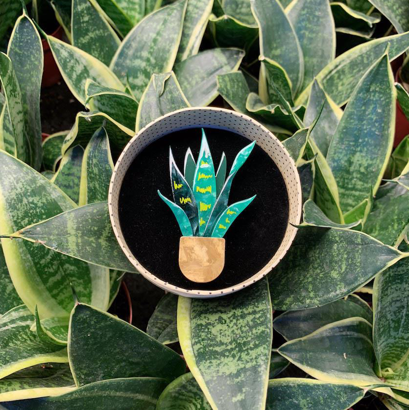 Potted Perfection Brooch