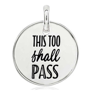 CANDID SS 18mm round plain square frame 'this too shall pass'