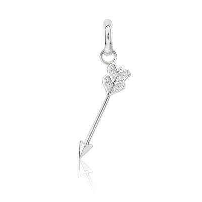 CANDID SS arrow charm with cubic zirconia
