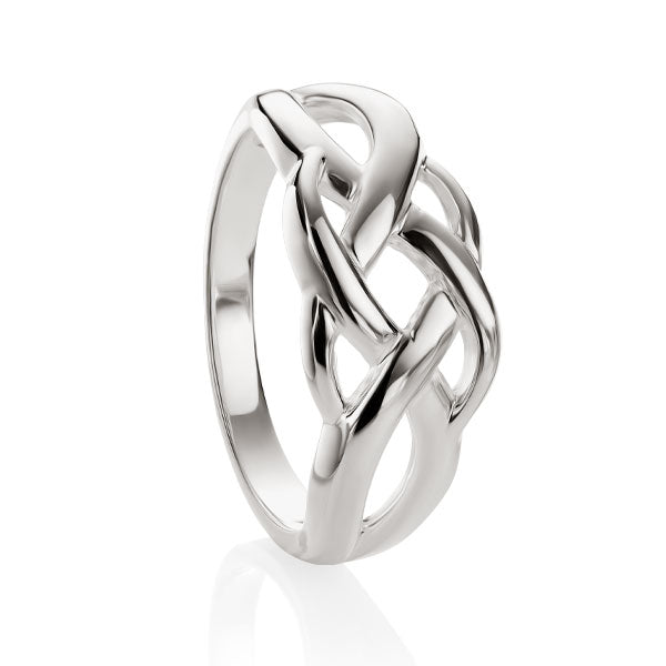 sterling silver plaited knot ring