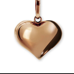 9ct rose gold polished puffed heart pendant