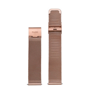 CLUSE 18mm Strap Mesh Rose Gold