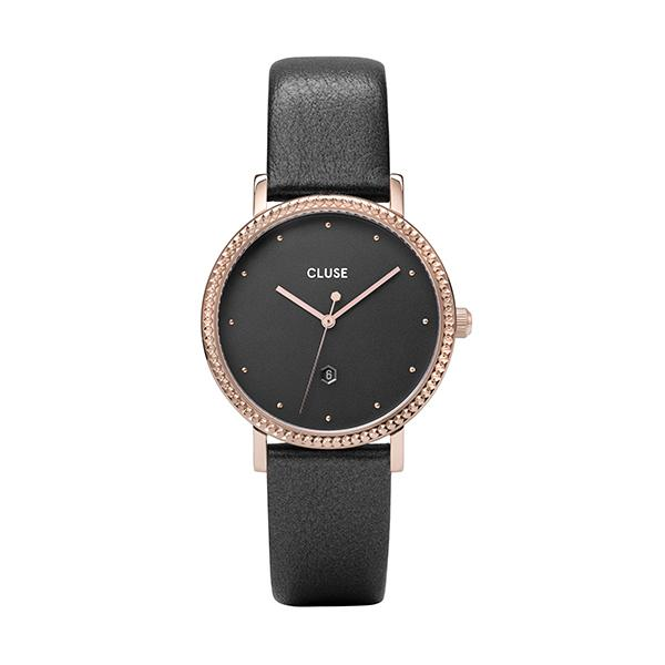 CLUSE Le Couronnement Leather Rose Gold Dark Grey/Dark Grey