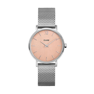 CLUSE Minuit Silver Rose Gold/Silver Mesh